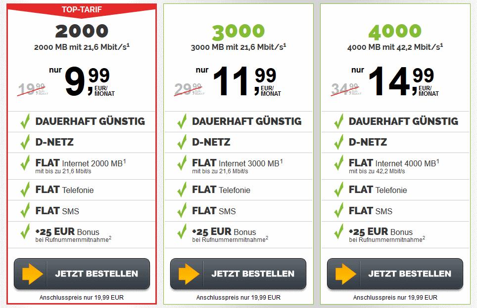 Handytarife D-Netz