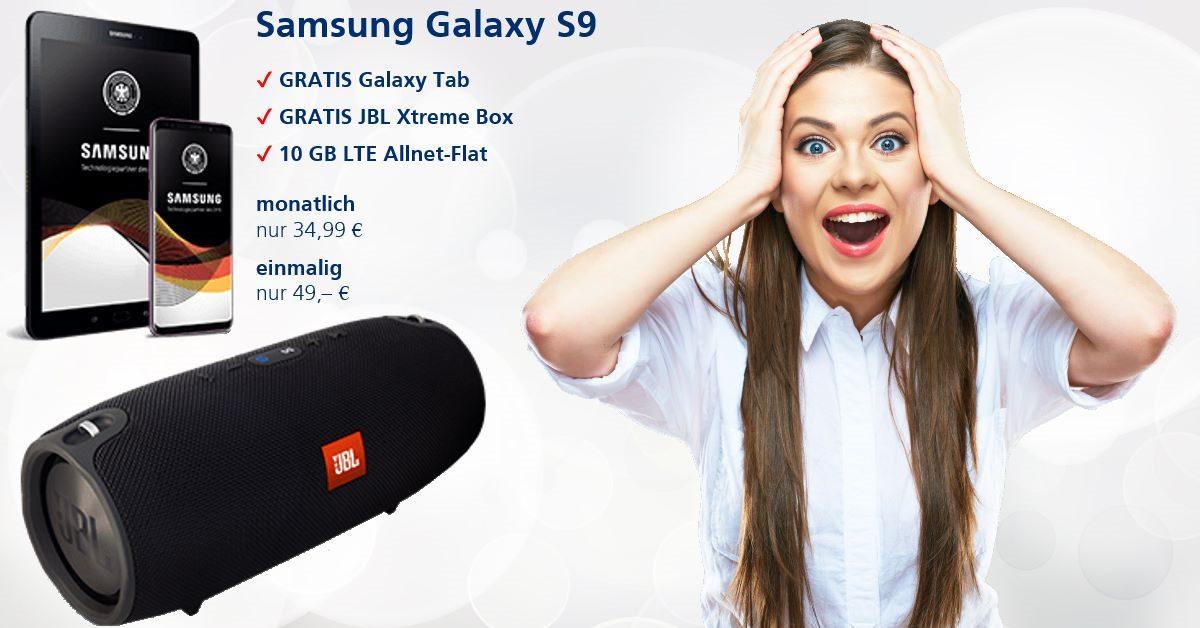 Die besten Handytarife mit Samsung Galaxy-S9