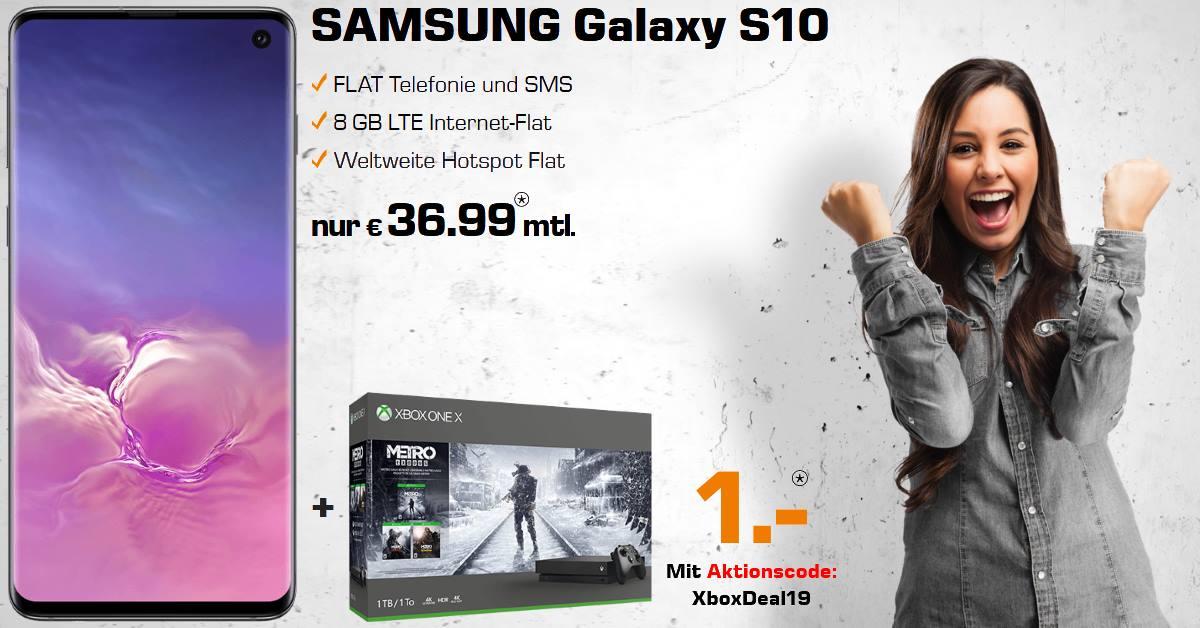 Die besten Handytarife - Galaxy S10 mit Xbox One X Metro Bundle und 8 GB LTE Allnet-Flat