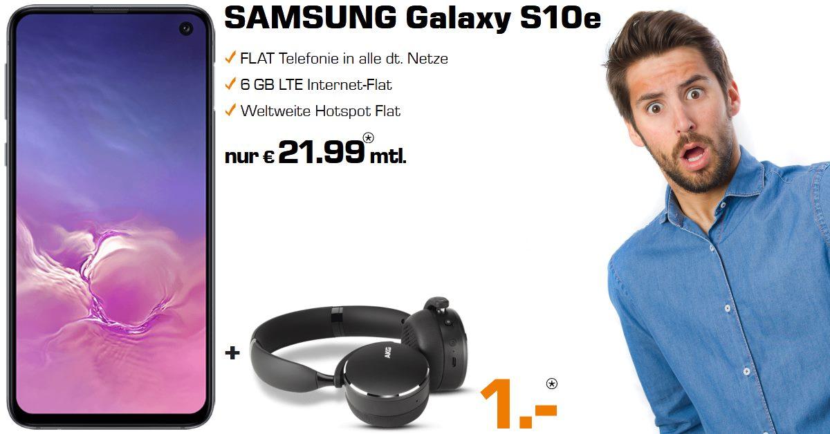 Die besten Handytarife - Galaxy S10e inkl. AKG Y500 und 6 GB LTE Allnet-Flat