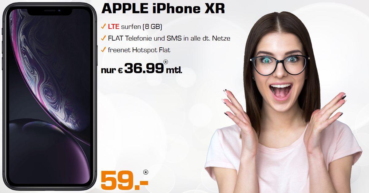 iPhone XR mit 8 GB LTE Allnet-Flat im Top D-Netz zum Tiefstpreis