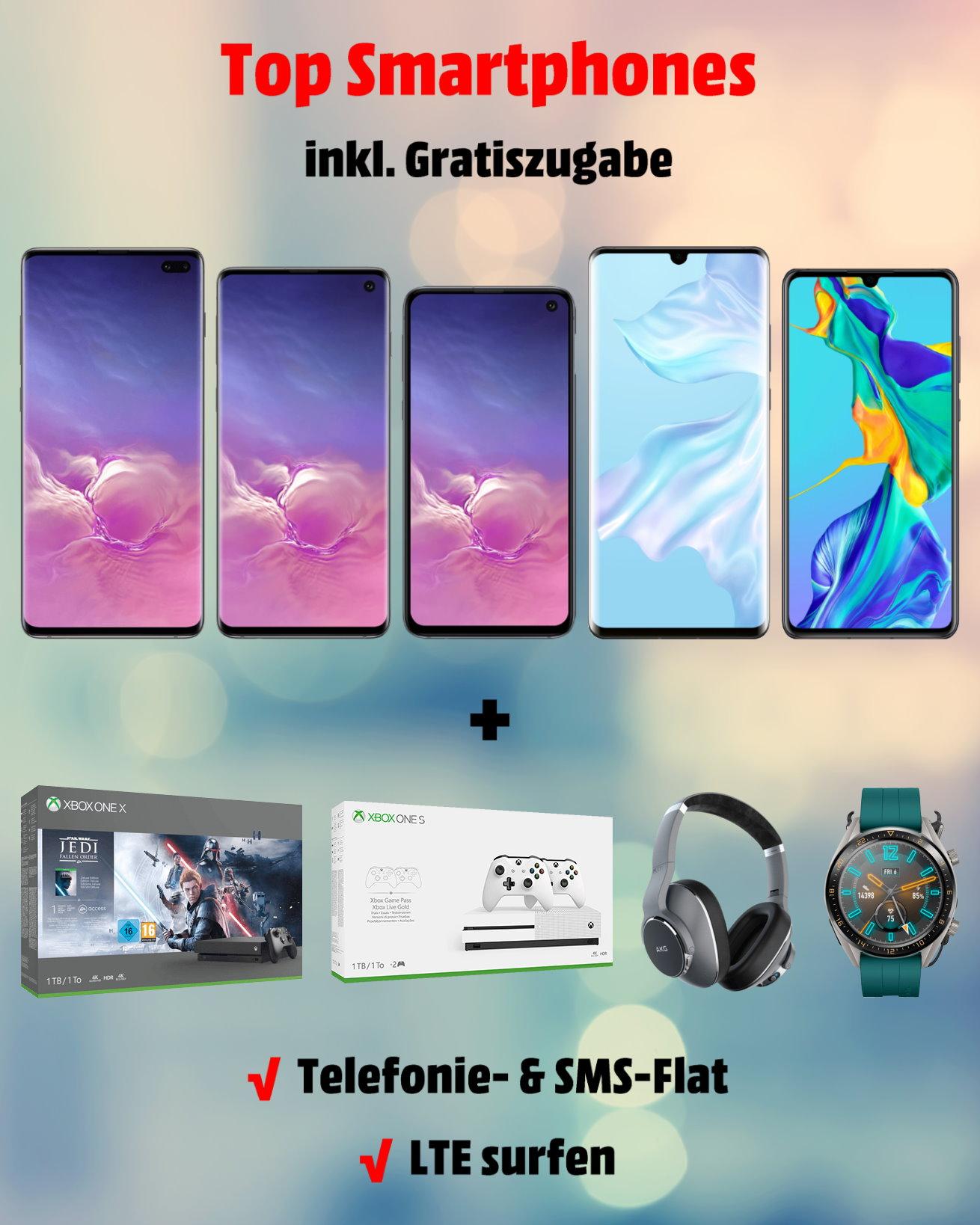 Top-Smartphones inkl. Gratiszugabe zum Bestpreis