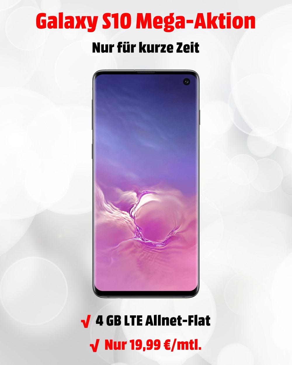 Galaxy S10 mit 4 GB LTE Allnet-Flat zum absoluten Tiefstpreis