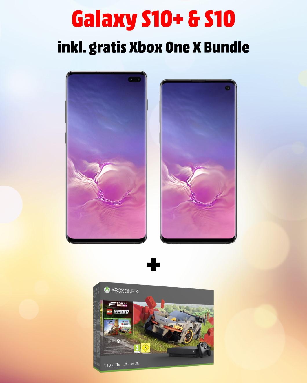 Samsung Galaxy S10+ und S10 inkl. gratis Xbox One X Bundle